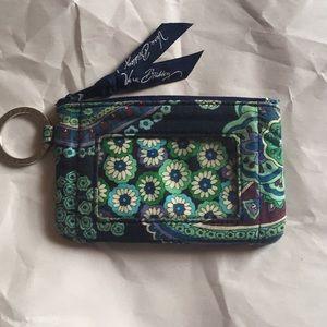 Vera Bradley zippered ID case w/Key/Lanyard holder